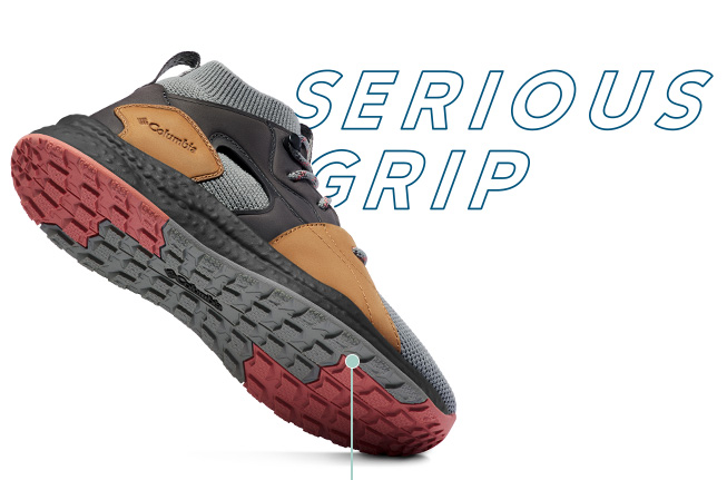 SH/FT shoe, showing outsole, Serious Grip.